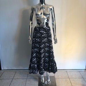Karen Kane Black & White Cotton Skirt